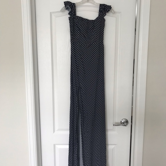 5c1560d90a25fc Lulu s Dresses   Skirts - Lulu s Dream Love Navy Blue Polka Dot Maxi Dress